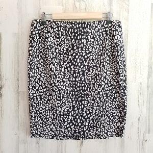 BR Leopard Pencil Skirt